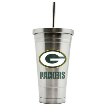 Duckhouse 16oz stainless steel travel tumbler NFL Green Bay Packers