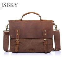 2017 men's travel bag canvas men messenger bag brand men's bag vintage style briefcase,leather Travel Shoulder bag cowhide