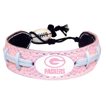 Green Bay Packers Official NFL Pink Bracelet