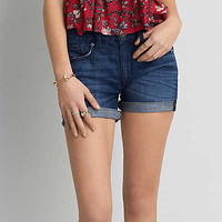AEO Boy Midi Short, Dark Rinse