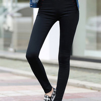 Black High Waist Skinny Pants
