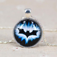 Batman time gem silver necklace pendant = 1927804292