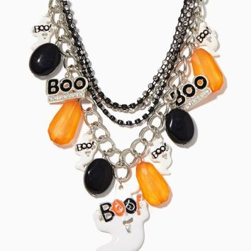 Ghostly Glam Multi-layer Necklace | Fashion Jewelry - Halloween | charming charlie