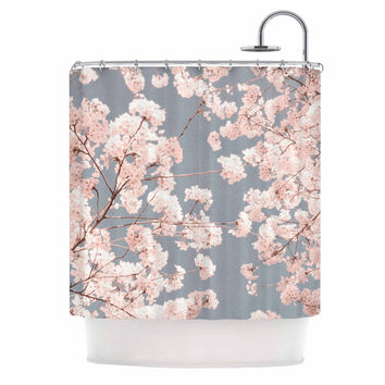 "Iris Lehnhardt ""Rosy Sky"" Pink Floral Shower Curtain"