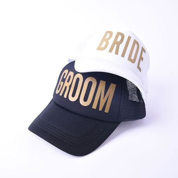 Trendy Winter Jacket GROOM Snapback Hats for Women Bride Trucker fb973d72d0a9