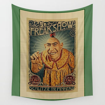 pinheadfreakshow Wall Tapestry by Kathead Tarot/David Rivera