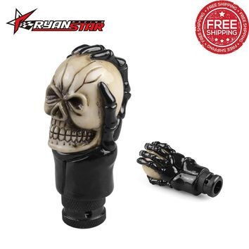 Black Claw Skull Resin Gear Knob Handles Gear Shift Knob Manual Shifter Shift Lever Knob Handbrake Covers