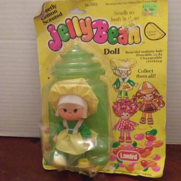 vintage 1980's strawberry shortcake knock off jellybean doll lucy lemon