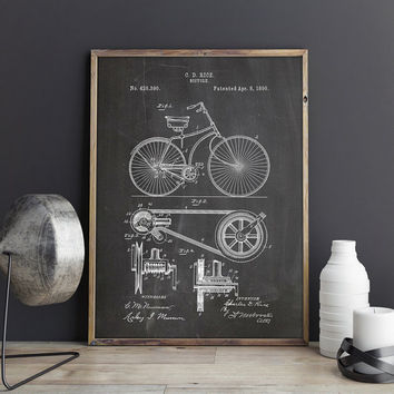 Bicycle Patent Print, Bicycle Poster, Bicycling Wall Art, Bicycle Wall Art, Bicycle Wall Print, Cycling Wall Decor, Bike, INSTANT DOWNLOAD