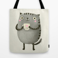 I♥you Tote Bag by Lime | Society6