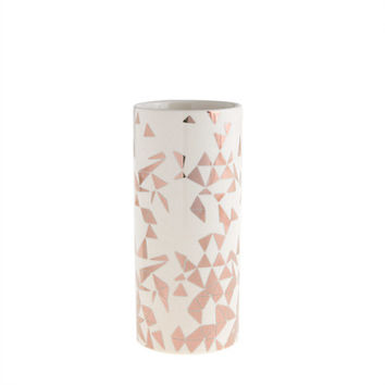J.Crew Womens Metallic Triangles Vase