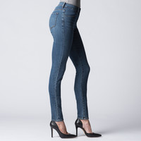 [Indigo Dual Flex] High Waisted Skinny Jeans in Vintage