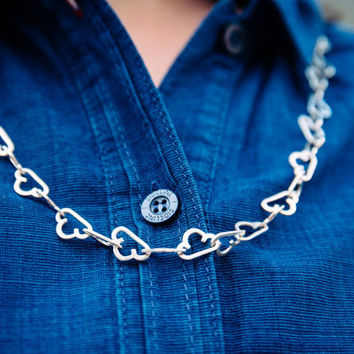 Every Cloud... Silver Cloud Necklace. Handmade Chain. Made in Brighton