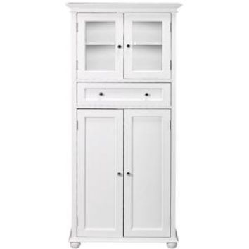 Home Decorators Collection, Hampton Bay 25 in. W 4-Door Tall Cabinet in White, 4772910410 at The Home Depot - Mobile