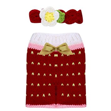 Newborn Photography Props Accessories Costume Handmade Crochet Knit Infant Beanie Hat and Pants Cute for Baby Newborn