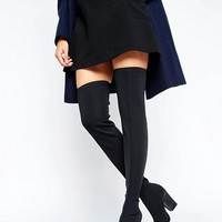 Office Harlow Stretch Heeled Over The Boots at asos.com