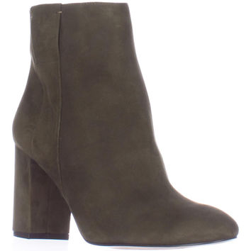 Nine West Why Not Block Heel Ankle Boots - Dark Green