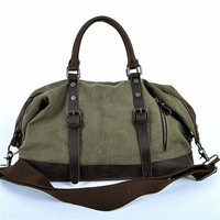 Casual Men Big duffle Bag Canvas Men travel Bags Large Road Weekend Bag