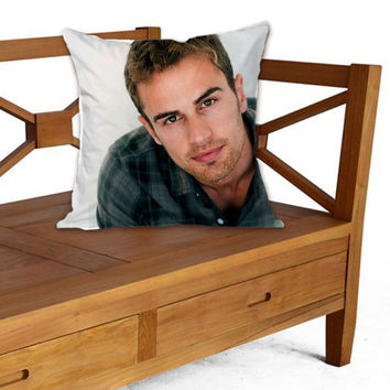 Theo James on Pillow cover by ElegancePerfect