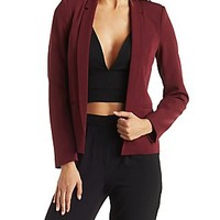 OPEN FRONT DOUBLE LAPEL BLAZER