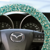 Steering Wheel Cover Bow Wheel Car Accessories Lilly Heated Interior Aztec Girls Monogram Tribal Camo Cheetah Sterling Chevron Green Floral