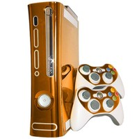 Orange Chrome Xbox 360 Skin