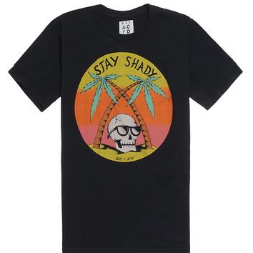Bad Acid Stay Shady T-Shirt - Mens Tee - Black
