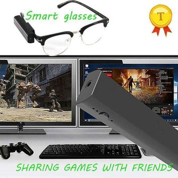 PEAPFS2 16GB Game Status Sharing Smart Glasses to Friends 1080P Live Streaming Smart Glasses to Google Facebook Outdoor Camera Glasses