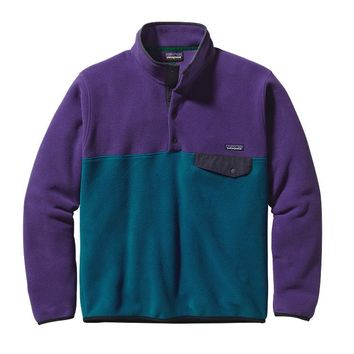 Patagonia Men's Lightweight Synchilla® Snap-T® Pullover | Underwater Blue w/Purple