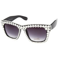 Calliope Swarovski Crystal Embellished Black Sunglasses