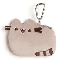 "Pusheen the Cat ID Case Plush 5"" Grey 4056576 Backpack Clip-on by Gund New"