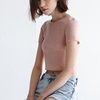 Nollie Cropped Crew Neck Tee at PacSun.com