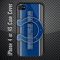 Indianapolis Colts NFL Logo Custom iPhone 4 or 4S Case Cover