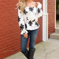 Make My Day Off the Shoulder Top - Ivory