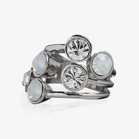 STACKED MIXED STONE RING from EXPRESS