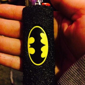 Handmade Batman lighter case - fits all regular size Bic lighters