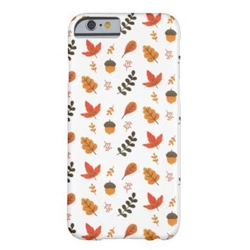 Cute Autumn Maple Leaf Pattern Barely There iPhone 6 Case