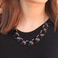 Prepared For Anything Onyx Gem Necklace