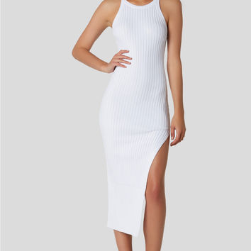 Skinny Dip Ribbed Midi Dress