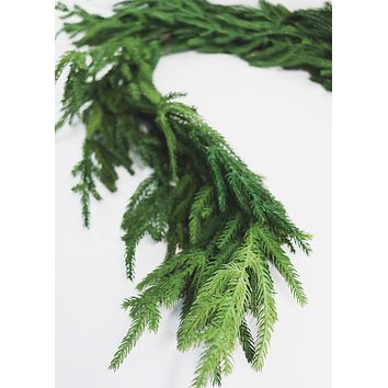 "Natural Touch Norfolk Pine Christmas Garland - 60"" Long"