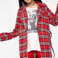 Spicy Lesson Learned Plaid Coat