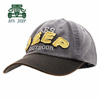 AFS JEEP Cotton Adjustable Size Men and Women Baseball Caps,Good Quality Men's Sports Sunscreen Hats