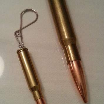 Authentic military 30 and 50 caliber necklace and/or key ring