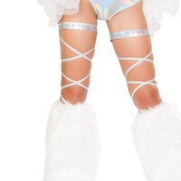 "Pair 100"" Space Hologram Leg Strap"