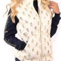 Simply Southern Quilted Pineapple Vest