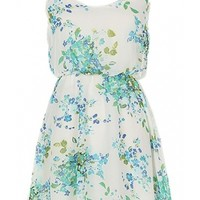 Ivory Floral Dress