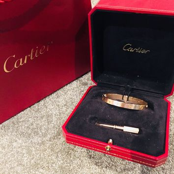 Cartier Love Bangle Rose Gold Size 16