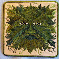 GreenMan Iron on Patch