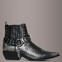 Y.R.U. LASO Gunmetal Leather Harness Booties