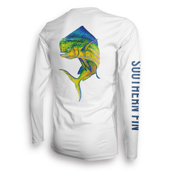 Long Sleeve Fishing T-Shirt for Men and Women, UPF 50 Dri-Fit Performance Clothing (Mahi)